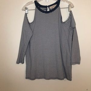Light Blue Striped Long sleeve top